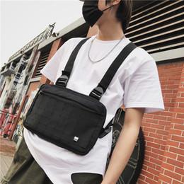 Cross shoulder hiking paCks online shopping - 201908 Black Men Chest Rig Bags Adjustable Waist Bag Hip Hop Streetwear Multifunction Tactical Cross Shoulder Bags Waist Packs M211F