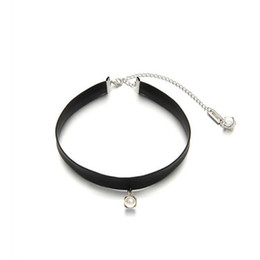 8f58a9835 Black Pu Leather Imitation Pearl Gothic Tattoo Choker Necklace Sailor Moon  Cosplay Jewelry Women Accessories J 190429