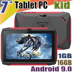 tablet android q8 Australia - factory kid Tablet PC Q98 Quad Core 7 Inch 1024*600 HD screen Android 9.0 AllWinner A50 1GB RAM 16GB Q8 with Bluetooth wifi with Retail box