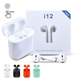 phone ears 2019 - i12 TWS Bluetooth 5.0 wireless Bluetooth Headphones Earphones Colorful Touch Control Wireless Headset Earbuds for Smart
