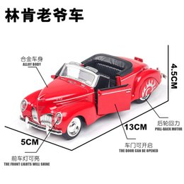 submarine decorations Canada - [Boxed] Model Lincoln Convertible Sports Car Retro Vintage Car with Sound And Light Alloy CHILDREN'S Toy Car Model Decoration