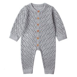 jumpsuit babies Australia - Newborn baby boy rompers Toddler Jumpsuit Girls Candy Color Knitted Baby Clothes Infant Boy Overall Children Outfit Spring