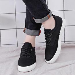 Wholesales Shoes Men Australia - Nice Fashion Men Canvas Breathable Causal Shoes Lace Up Comfortable Men Shoes Leisure Walking Flats Dec2
