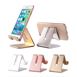 $enCountryForm.capitalKeyWord NZ - Universal Aluminum Metal Mobile Phone Tablet Holder Desk Stand for iPhone 7 Plus Samsung s8 plus ZTE Max XL with Retail package