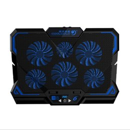 Discount gaming stand - 17inch Gaming Laptop Cooler Six Fan Led Screen Two USB Port 2600RPM Laptop Cooling Pad Notebook Stand for
