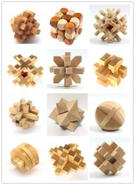 Wholesale Funny Chinese Traditional Wooden Educational Toys for Adult Children Intelligence Education Puzzle Lock Kids baby wood Toys MLA375 on Sale