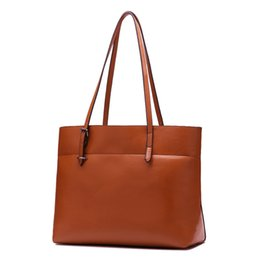 $enCountryForm.capitalKeyWord UK - Decent2019 Will China New Pattern Dual Color Oil Wax Cowhide Genuine Leather Woman Bale Single Shoulder Package Trend Bag Guangzhou