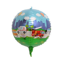 Cars Wholesale Party Supplies UK - 20pcs 22 inch car world 4D balloon World Cup theme party decoration supplies birthday party balloons