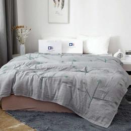 Cotton quilt Coverlet online shopping - Cotton Fiber Gauze Blanket All Season Nap Quilt Travel Coverlet Baby Bedding Sheet Sleeper Covers Home Bedspread