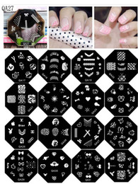 $enCountryForm.capitalKeyWord NZ - Fashion QA1-QA64 Cute Cartoon Patterns Nail Art Stamp Template Image Plate Nail Stamp Transfer Square Nail Stamping Plates 20PCS