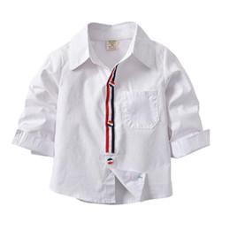 $enCountryForm.capitalKeyWord Australia - INS Toddler Kids Boys Shirts Gentleman USA UK Designs Long Sleeve Tatting Cotton Polo Tshirts Spring Autumn Children Boys Casual Clothing