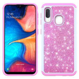 wholesale bling cell phone cases UK - Bling Glitter Shockproof Cell Phone Case Cover For Samsung Galaxy A20 A10E LG Stylo 5 Coolpad Legacy TPU Frame +Skin case Oppbag
