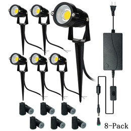 Dc Pack Australia - Upgrade LED Outdoor Spotlight,8 Pack 12V Low Voltage Landscape Lighting Warm White IP65 Waterproof Garden Lights with UL Listed Adapter