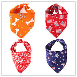 Towels For Dogs NZ - American Flag Cat Dog Bandana Bibs Scarf Collar Pet Neckerchief Scarf Saliva Towel for Small Medium Large Dogs