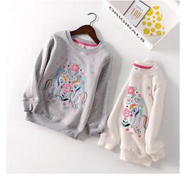 $enCountryForm.capitalKeyWord Australia - Autumn Winter Kids Girl Hoodies Baby O-neck Cartoon flower Embroidery Fleece Thick Shirt Toddler Warm Casual Outwear Horse Tops