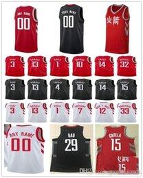 Custom 2019 Basketball Jersey Houston Brandon Gary Knight Clark Gerald  Marquese Green Chriss James Chris Harden Paul Rockets Men Jerseys 00d81ce9a