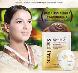 $enCountryForm.capitalKeyWord Australia - BIOAQUA Snail Nourishing Essence Mask Moisturizing Mask Oil Control Shrinkage Pore Mask Skin Care New Products SZ190 7.31