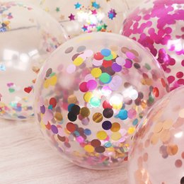 $enCountryForm.capitalKeyWord NZ - Hot 12 Inches Transparent Latex Balloons Inserted With Aluminum Foil Small Circle Disc Sequins For Kids Toy Party Wedding Decorations