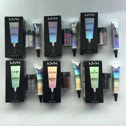 nyx eyeshadow primer 2019 - 2017 NYX 2 in 1 Powder eye shadow nyx GLITTER PRIMER Face and Body Shimmer Powder 6 color Eyeshadow Powder cheap nyx eye