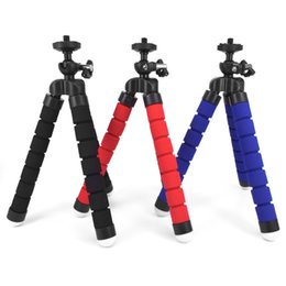 octopus flexible tripod Canada - Mini Flexible Camera Phone Holder Flexible Octopus Tripod Bracket Stand Holder Mount Monopod for iphone 6 7 8 plus smartphone