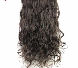Clip Hair Wavy Australia - 5 Clips In Hair Extensions One Piece Long Wavy Synthetic Wig High Temperature False Hairpieces For Women 24inch