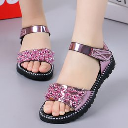 $enCountryForm.capitalKeyWord Australia - 2019 Hot Sale Girl Sandals Fashion Bling Shiny Rhinestone Girls Shoes Kids Flat Sandals Children Sandal Y19061906