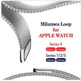 Опт Миланский ремешок из нержавеющей стали с ремешком из нержавеющей стали для серии Apple Watch 40 мм