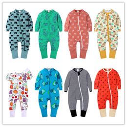 Wholesale cotton jumper suit for sale - Group buy Spring Autumn Baby Romper Cartoon Printed Boy Girls Jumpers Infant Newborn Long Sleeve climbing Jumpsuit Cotton Suit Toddler Cloth E21901