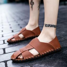 09c435853adfb8 2019 Super Light Sandals Summer Men Fashion Breathable Slip-on Flats  Slippers Male Comfortable Soft Shoes Sandales Pour Hommes