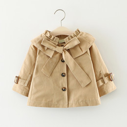 $enCountryForm.capitalKeyWord NZ - Kids Overcoats and Jackets Baby Dress Outwear Kids Fashion Clothes Long Coats Windbreaker For Girls 1-3 Years Spring Autumn Tops