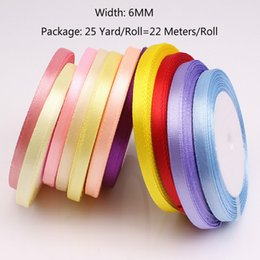 $enCountryForm.capitalKeyWord Australia - (25 Yards roll) 6mm Ribbons Multicolor Solid Color Satin Ribbons Wedding Decorative Gift Box Wrapping Belt DIY Crafts 22 Meters