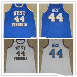 $enCountryForm.capitalKeyWord NZ - Cheap #44 JERRY WEST WEST VIRGINIA MOUNTAINEERS Basketball Jerseys Retro vest T-shirt Embroidery Stitched Custom Any Name And Number