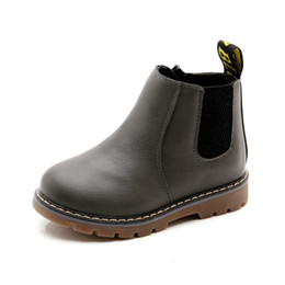 Snow Boot Waterproof Australia - Fashion Children Snow Boots Autumn Thickening Cotton Shoes Boys Girls Waterproof Non-slip Martin Ankle Boots Kids Leather Boots