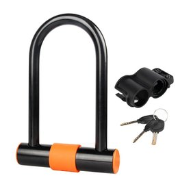 $enCountryForm.capitalKeyWord UK - Bicycle Bike U-shaped Lock Alloy Steel Anti-theft Lock Pure Copper Core Running Cycling Fishing Hiking Walking #233977