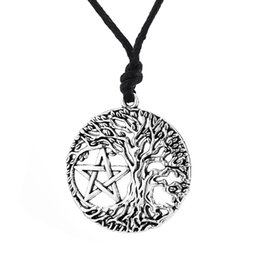 $enCountryForm.capitalKeyWord Australia - Tree of Life Yggdrasil Portugal Men Pendant Pentacle Pentagram Wicca Pagan Vintage Accessories Male Necklace Women Collar K3698