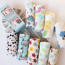 star print baby blanket 2019 - Cartoon Soft Baby Muslin Blanket 115*115cm Flamingo Animal INS Baby Swaddle Wrap Blanket Towelling Baby Summer Swaddling