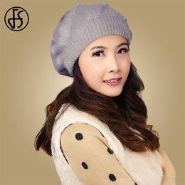 Grey Bobble Hat Australia - FS Winter Knitted Cap Beanie Hat For Women Fur Pom Pom Hats Wool Warm Skullies Cap Fashion Bobble Ski Caps bonnet femme hiver