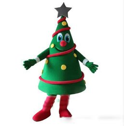 tree costumes Australia - 2018 new hot sale Green Christmas Tree Mascot Costume EMS Free Shipping