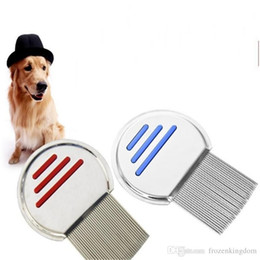 $enCountryForm.capitalKeyWord Australia - Dog Cat Round Lice Comb Non Slip Handle Punny Nit Free Remover Brush Stainless Steel Grooming Pet Supplies Durable 2018120708