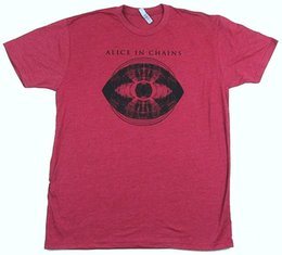 $enCountryForm.capitalKeyWord UK - Alice In Chains Blinded Eye Heather Cardinal Red T Shirt New Official AIC SoftFunny free shipping Unisex Casual Tshirt