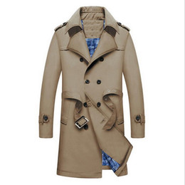 Chinese  VXO 2019 Men British Trench Slim Double Breasted Mens Long Trench Coat Trenchcoat Jacket Male Coat TBusiness Casual rench manufacturers