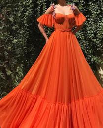 One Strap Lace Dress NZ - Abendkleid Orange Prom Dresses Sweetheart Spaghetti Strap Lace Appliques Long Evening Dress 2019 Special Gowns vestidos de fiesta de noche