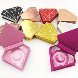 $enCountryForm.capitalKeyWord Australia - Diamond box false eyelashes packing box mink hair eyelashes packing paper box 10 pcs free shipping