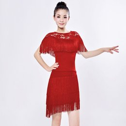 dresses for latin dance competitions NZ - Fringe Latin Dance Dress for Women Girls Ballroom Cha Cha Stage Competition Dress Up Dancing Latin Dance Clothes Dancewear