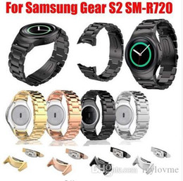 $enCountryForm.capitalKeyWord NZ - Hot Sale High Quality Metal Sport Band for Samsung Gear S2 SM-R720 Stainless Steel Replacement Sport Strap with Connector