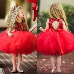 $enCountryForm.capitalKeyWord Australia - 2019 Princess Kids Baby Fancy Wedding Dress Sleeveless Sequins Party Dress For Girl Tutu Tulle Back Hollow Out Party Formal Dresses