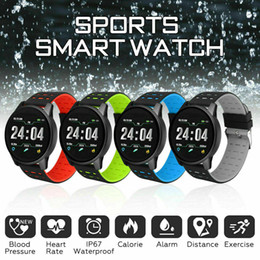 Women sport Watches pedometer online shopping - 2019 Men Sport Smart Watch Heart Rate Blood Pressure Monitor for iOS Android Waterprooof Smart Band Women Fitness Wristband