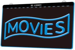night lures Australia - LS0651 Movies Home Theater Night Lure New 3D EngravCustomize on Demand Multiple Color