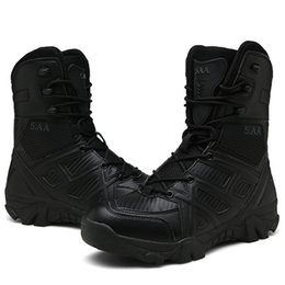 $enCountryForm.capitalKeyWord UK - Men Outdoor Hiking Shoes Tactical Boots Black Combat Boot Light Weight Breathable Hunting Shoes Climbing Mountain Boots Training Shoes 11 12