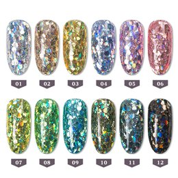 $enCountryForm.capitalKeyWord NZ - 12 Box Set Holograhic Hexagon Nail Art Glitter Sequins Mix Size Mermaid Gradient Powder Acrylic Tips UV Gel Nail Polish Flakes